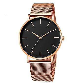 Fashion Ultra-tynd Simpel Business, rustfrit stål Mesh Belt Quartz Watch