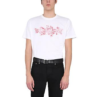Givenchy Bm710w3002100 Men's White Cotton T-shirt
