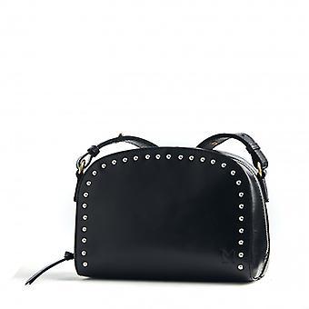 Le Lunatique - Black / Silver studs - Smooth Leather