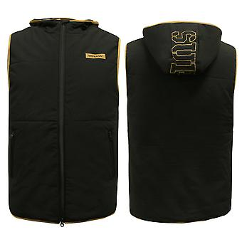 Supra Mens Fact Vest Zip Up Hooded Gilet Bodywarmer Black 102083 008 A38D