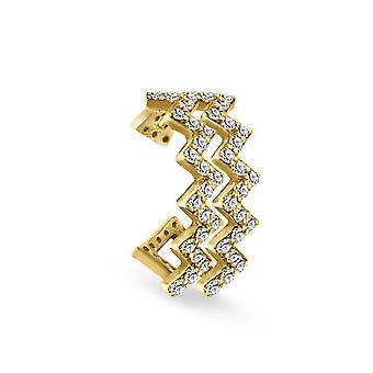 Ohrring Manschette moderne Kunst, 18K Gold & Diamanten