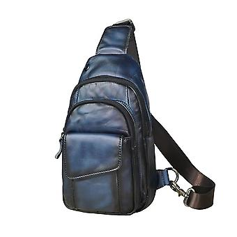 Horse Leather Casual Chest Bag