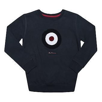 Boy's Ben Sherman Junior Bullseye Crew Sweatshirt in Blue
