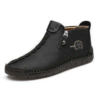 Botas de cuero casual para hombre 9922 Negro