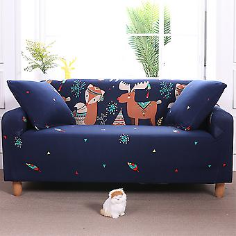 Universal Fitted Stretch David Deer Print Sofa Slipcover