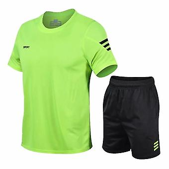 2 Pcs/set Men's Tracksuit Gym Fitness Badminton Sports Suit Clothes