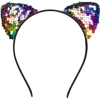 Tiara With Cats Ears Polyester Pink One-Size