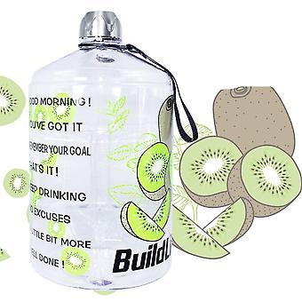 Gallon Water Bottle Time Marker 3.78l 128oz Bpa Free Sport Plastic Large