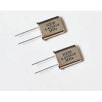 10pcs Passive Quartz Crystal Oscillator Hc-49u 4.433619mhz 4.433mhz Crystal