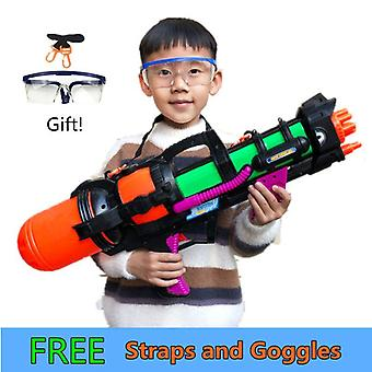 "24"" Jumbo Blaster Water Gun With Straps Goggles Kids Beach Squirt Toy"