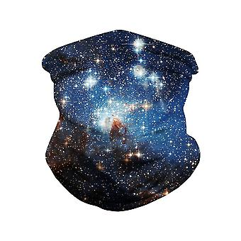 Men's Starry Sky Print Buitenmasker