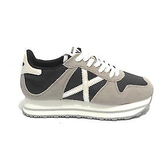 Shoes Women Munich Sneaker Massana Sky 143 Suede Grey/ Black Ds21mu05 8810143