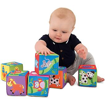 Galt Toys, Soft Blocks, Stacking Toy, Ages 6 Months Plus
