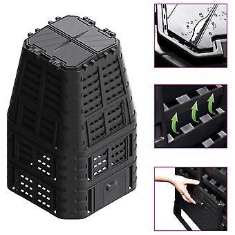 L Garden Composter Black 93.3x93.3x146 Cm 1000 L