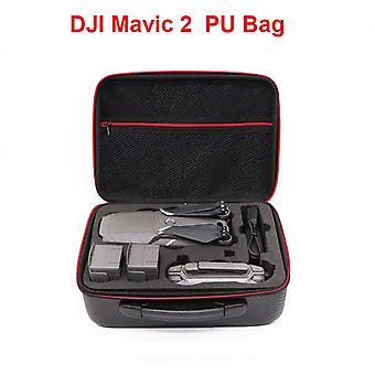 Dji Mavic 2 Pu Leather Water Resistant Portable Drone Bag Carry Case
