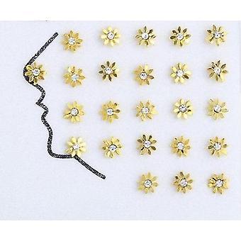 925 plata esterlina, anillos de nariz de pedrería vintage & tachuelas
