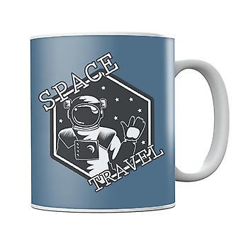NASA Space Travel Astronaut Waving Mug