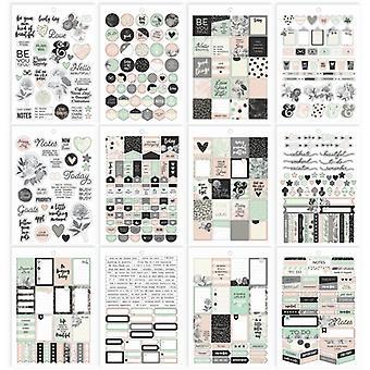Simple Stories - Carpe Diem - Beautiful - A5 Beautiful Sticker Tablet