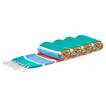 4x toallas de baño de algodón turco Playa Peshtemal Fouta 157 x 87cm Multicolor