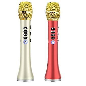 2 Aseta l-698d 20w kannettava langaton bluetooth karaoke mikrofoni kaiutin iso teho laulaa / tavata, kultaa & punainen