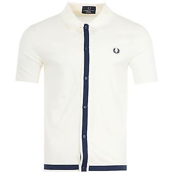 Fred Perry Reissues Pique Short Sleeve Shirt - Ecru