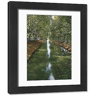 Canal de Brienne, town of Toulouse, Haute Garonne, Midi-Pyrenees, France, Europe. Framed Photo..