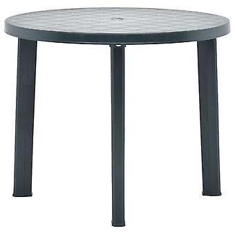 vidaXL Garden Table Green 89 cm Plastik