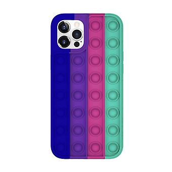 Lewinsky iPhone 12 Pop It Case - Silicone Bubble Toy Case Anti Stress Cover
