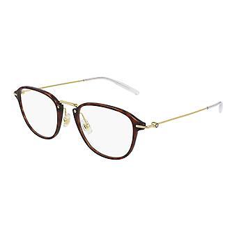 Montblanc MB0155O 002 Gold-Havana Glasses