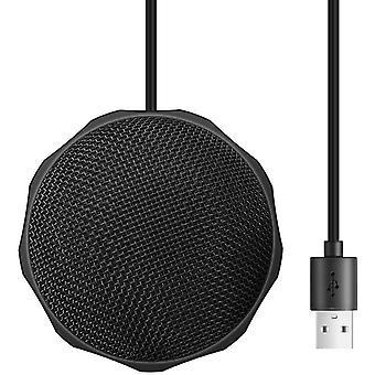 FengChun USB Desktop/Laptop Computer Mikrofon, 360° Omnidirektionales Kondensator Mikrofon, PC