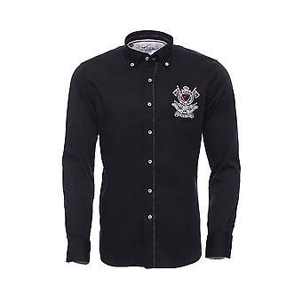 Armalı uzun kol siyah gömlek | wessi