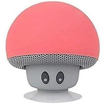Mini Huba Prenosné Bezdrôtové Bluetooth V2.1 Reproduktor a držiak mobilného telefónu s sací pohár kompatibilný s iPad, iPhone, Android telefóny, Notebook (Červená)