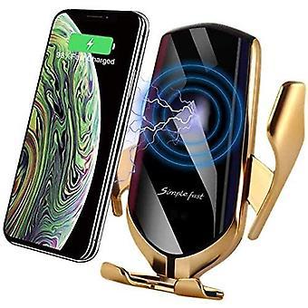 Držiak automatického bezdrôtového nabíjania do auta pre iphone XR XS XS Max 8 / 8Plus Huawei P30Pro Mate20Pro (Gold)