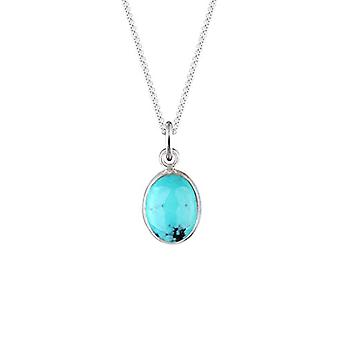 Elli Women's necklace, pendant with turquoise howlite stone, sterling silver 925, 45 cm long