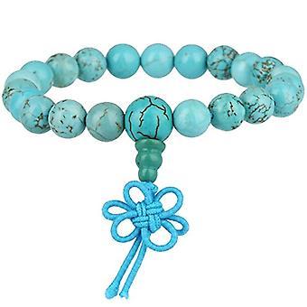 KYEYGWO 21 Mala Bracelet with Crystal Beads Chakra, unisex, Reiki Stretch, color: Turquoise Howlite green (Ref. 0715444069338 chain