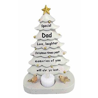 David Fischhoff Dad Christmas Tree With Flickering Led Candle Light Memorial Ornament