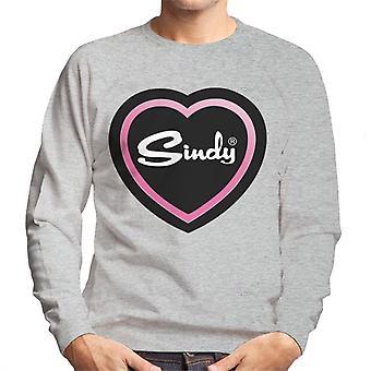 Sindy Pink Love Heart Men's Sweatshirt