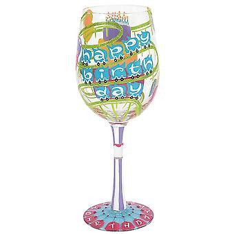 Lolita Hyvää syntymäpäivää viini lasi