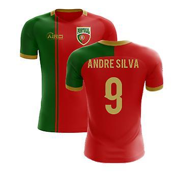 2020-2021 פורטוגל דגל הבית הרעיון חולצת כדורגל (אנדרה סילבה 9)