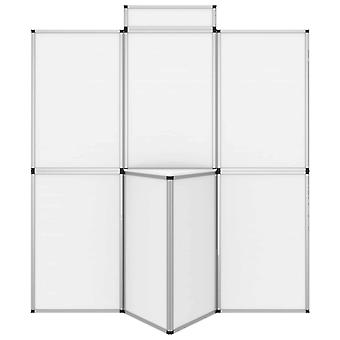 vidaXL 8-paneel opvouwbare display tentoonstellingswand met tafel 181×200 cm wit