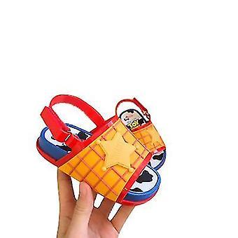 Maat 7 oranje mini strandglijbaan speelgoed verhaal sandalen x3242