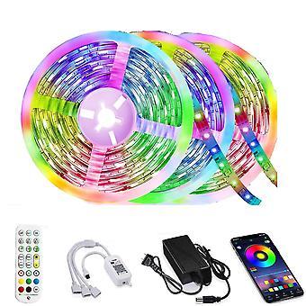 50Ft led strip light music sync color changing dt4370