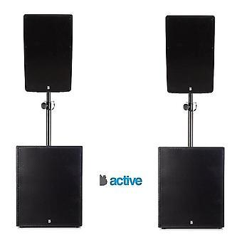 """Big gig rig 41 - активный 2000W rms 12"""" топы и 15"""" сабвуфер pa система с Bluetooth"""