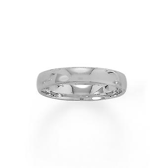925 Sterling Silver Rhodium Pokovované 4mm Band 4mm Šperky Darčeky pre ženy - Prsteň Veľkosť: 5 až 11