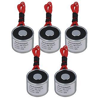 Pour 5pcs 9V DC 5kg 50N 0.5A Électrique Levage Holding Magnet Electro-aimant 4W WS4511