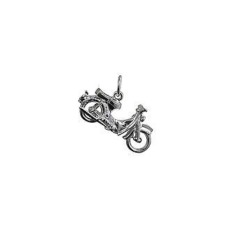Серебряный 25x14mm Honda Мотоцикл кулон или очарование
