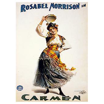Poster Vintage Pubblicitario Rosabel Morrison Balla Carmen - Stampa su Tela, Decorazione Parete