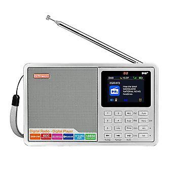 GTMEDIA D2 DAB+ 174.92-239.20MHz DAB FM Teljes sávú digitális rádió MP3 zenelejátszó órajel riasztás