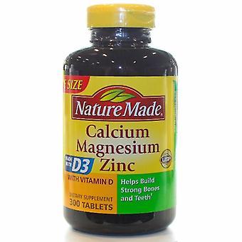 Nature Made Calcium - Magnesium & Zinc, 300 Tabs