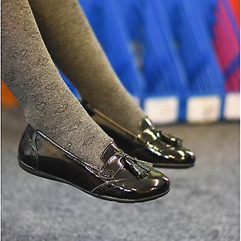 Hush Puppies Esme Girls Leather School Shoes Black